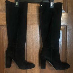 Black suede Sam Edelman knee high boots size 8
